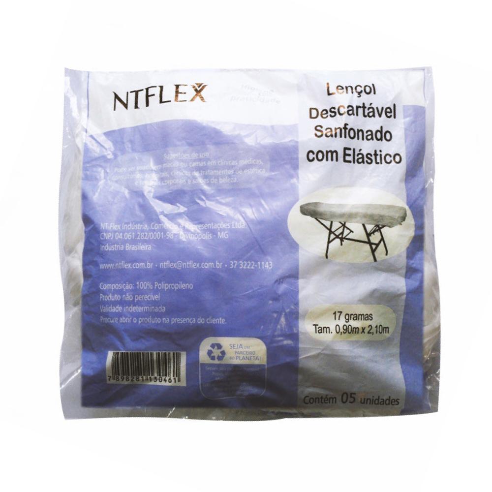 LENÇOL DESC. C/ ELÁSTICO SANFONADO GR 17 C/ 05 NTFLEX